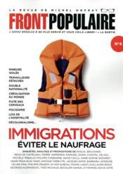 Front populaire N.4 ; immigrations : éviter le naufrage - Couverture - Format classique