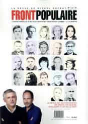 Front populaire N.4 ; immigrations : éviter le naufrage - 4ème de couverture - Format classique