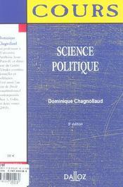 Science politique - 4ème de couverture - Format classique