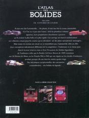 L'Atlas Des Bolides - 4ème de couverture - Format classique