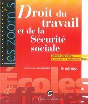 Droit du travail et de la sécurité sociale - Intérieur - Format classique