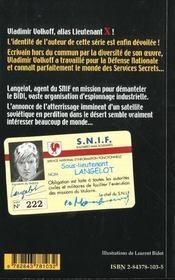 Langelot 03 - Langelot Et Le Satellite - 4ème de couverture - Format classique