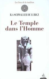 Le temple dans l'homme - Intérieur - Format classique