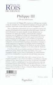 Philippe iii - 4ème de couverture - Format classique