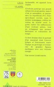 Leon cladel - 4ème de couverture - Format classique