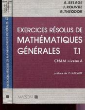 Exercices Resolus De Mathematiques Generales T.2 - Couverture - Format classique