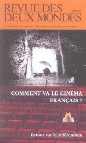 Revue Des Deux Mondes N.5 ; Comment Va Le Cinema Français ? - Intérieur - Format classique