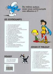 Les Schtroumpfs T.7 ; l'apprenti Schtroumpf, pièges à Schtroumpfs et Roméos et Schtroumpfette - 4ème de couverture - Format classique