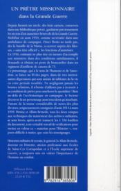 Mes carnets de campagne (1914-1919) ; Omer Denis, aumônier, ambulancier et artilleur - 4ème de couverture - Format classique