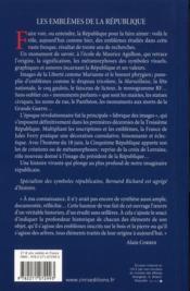 Les emblèmes de la République - 4ème de couverture - Format classique