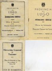 Provincia De Lugo, Informaciones Turisticas, Lista De Alojamientos, Plano De La Poblacion - Couverture - Format classique