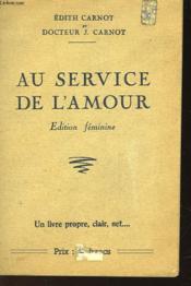 Au Service De L'Amour - Couverture - Format classique