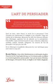 L'art de persuader ; d'Aristote à Beigbeder - 4ème de couverture - Format classique