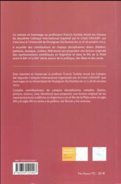 Representations esthetiques en argentine et dans le rio de la plata xixe xxe xxi - 4ème de couverture - Format classique