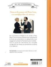 Le journal de Marie Curie - 4ème de couverture - Format classique