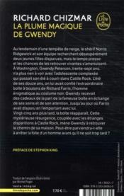 La plume magique de Gwendy - 4ème de couverture - Format classique
