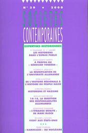 Societes Contemporaines N.39 ; Expertise Historienne - Intérieur - Format classique