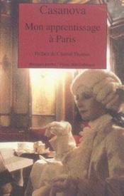 Mon apprentissage à paris - Couverture - Format classique