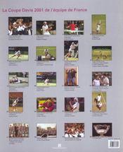 Coffret Coupe Davis 2001 ; La Victoire De L'Equipe De France - 4ème de couverture - Format classique