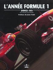Annee Formule 1 2002-2003 - Intérieur - Format classique