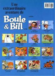 Boule & Bill T.1 ; Bill a disparu - 4ème de couverture - Format classique