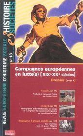 Revue Europeenne D'Histoire Sociale N.13 ; Campagnes Européennes En Lutte(S), Xix-Xx Siècles - Intérieur - Format classique