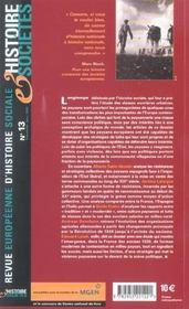 Revue Europeenne D'Histoire Sociale N.13 ; Campagnes Européennes En Lutte(S), Xix-Xx Siècles - 4ème de couverture - Format classique