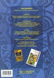 Encuentro - 2de - livre de l'eleve - edition 1994 - 4ème de couverture - Format classique