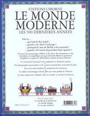 Le Monde Moderne - 4ème de couverture - Format classique