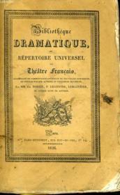 BIBLIOTHEQUE DRAMATIQUE, ou REPERTOIRE UNIVERSEL DU THEATRE FRANCAIS avec des remarques, des notices, et l'examen de chaque piece - Auteurs contemporains, M. RAYNOUARD, M. BAOUR-LORMIAN - TOME IV - Couverture - Format classique