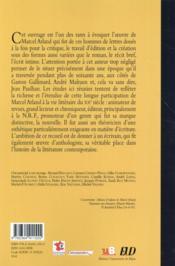Marcel arland lecteur editeur ecrivain - 4ème de couverture - Format classique