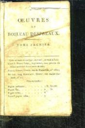 Oeuvres Completes De Boileau Despreaux - Tome Premier - Couverture - Format classique