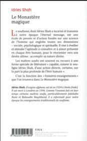 Le monastère magique - 4ème de couverture - Format classique