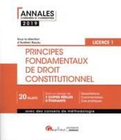 Principes fondamentaux de droit constitutionnel - L1-S1 (édition 2019) - Couverture - Format classique