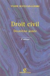 Droit Civil ; 2e Annee - Intérieur - Format classique
