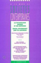 Psychologie Sociale Et Ses Histoires - Couverture - Format classique