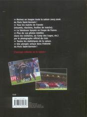 Paris Saint-Germain, La Saison 2005-2006 - 4ème de couverture - Format classique
