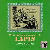 Petite anthologie culinaire du lapin - Couverture - Format classique