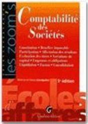 Comptabilité des sociétés (5e édition) - Couverture - Format classique
