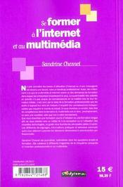 Se former a l'internet et au multimedia - 4ème de couverture - Format classique
