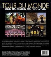 Tour du monde des hommes au travail - 4ème de couverture - Format classique