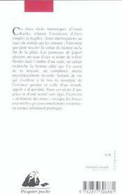 Femme Ailee (La) Suivi De Camphrier (Le) - 4ème de couverture - Format classique