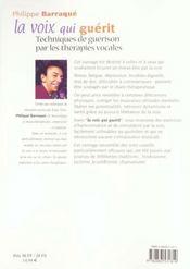 Voix Qui Guerit (La) N.119 - 4ème de couverture - Format classique
