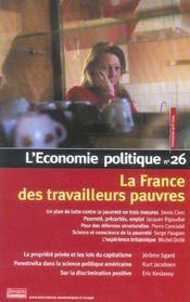 L'Economie Politique N.26 ; La France Des Travailleurs Pauvres - Intérieur - Format classique