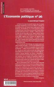 L'Economie Politique N.26 ; La France Des Travailleurs Pauvres - 4ème de couverture - Format classique
