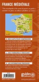 France médiévale - 4ème de couverture - Format classique