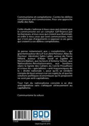 Communisme et complotisme ; contre les délires complotistes anti-communistes - 4ème de couverture - Format classique