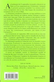 Dictionnaire mondial de l'islamisme - 4ème de couverture - Format classique