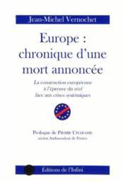 Europe: chronique d'une mort annoncee - Couverture - Format classique