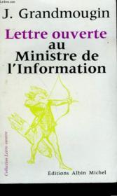 Lettre Ouverte Au Ministre De L'Information. - Couverture - Format classique